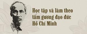 Học tập và làm theo tấm gương đạo đức Hồ Chí Minh
